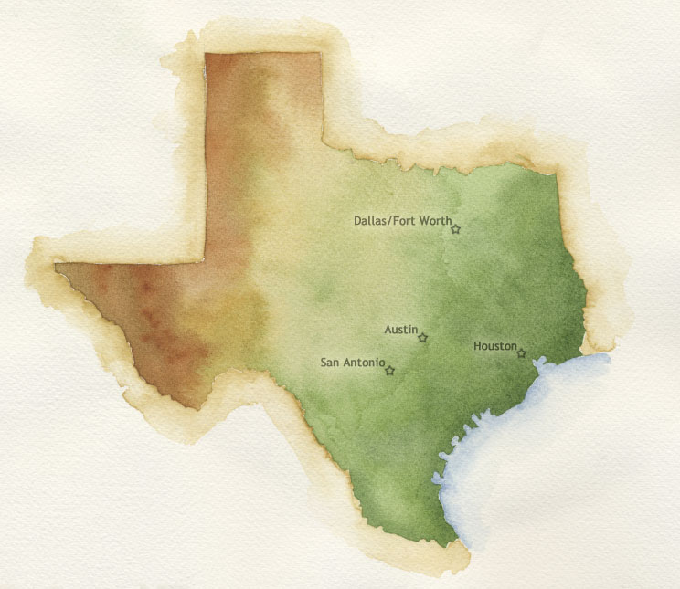 CFA Texas Chapter Map